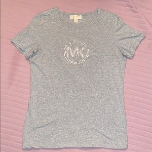 Michael Kors Heather Gray Fitted T-shirt. Size L
